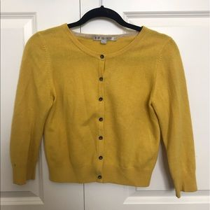 Yellow cashmere cardigan from Boden